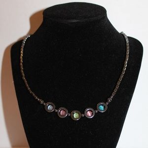 Hematite and Tigers Eye multi-color Necklace